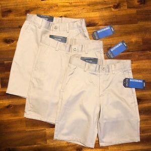 NWT Set of 3! Nautica boy's uniform shorts size 6